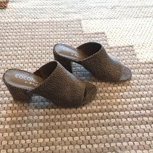Coconuts by Matisse Shoes - Matisse leopard wedge heel-like new!